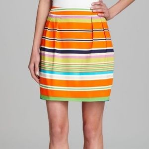 Kate Spade orange striped mini skirt size 2